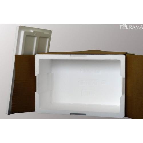 Scatola di cartone un'onda 45x35x30 bianca