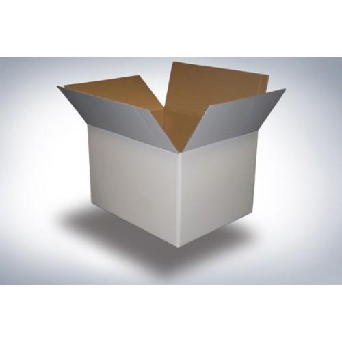 Scatola di cartone un'onda 45x37x33 bianca